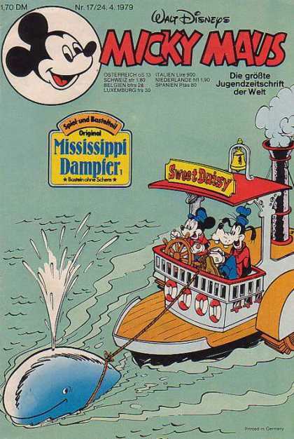 Micky Maus 1219 - Mickey Mouse - Goofy - Steamboat - Mississippi River - Whale