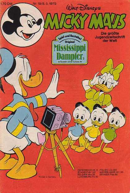 Micky Maus 1221 - Nephews - Daisy Duck - Mississippi Dampier - Camera - Donald Duck As A Photographer