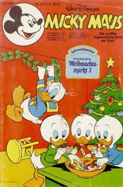 Micky Maus 1252 - Donald Duck - Mistle Toe - Christmas Tree - Huey Duey And Luey - Bowl Of Candy