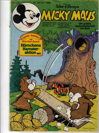 Micky Maus 1271 - Walt Disney - Mickey Mouse - Chip And Dale - Tree - Nuts