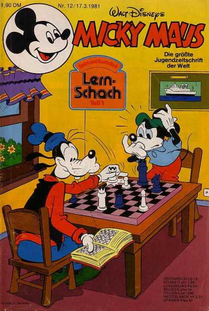 Micky Maus 1290 - Goofy - Disney - Window - Chess Game - Chairs
