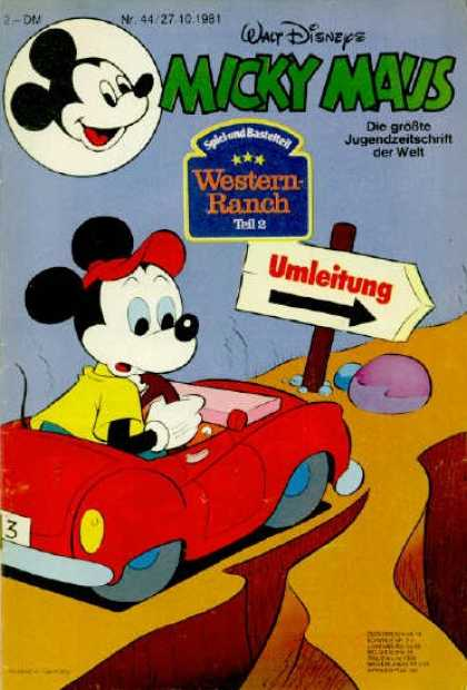 Micky Maus 1322 - Disney - Car - Sign - Western Ranch - Detour