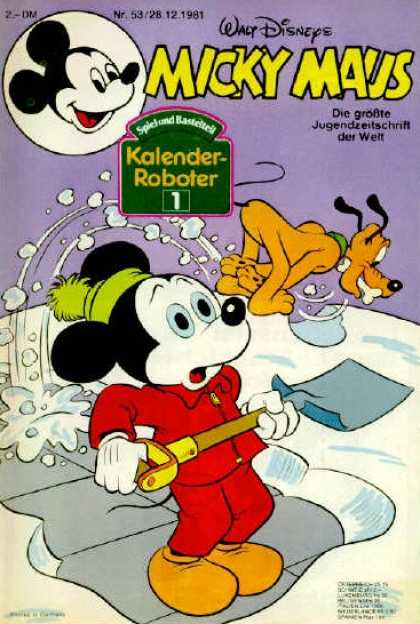 Micky Maus 1331 - Walt Disneys - Kalender-roboter - Cleaning Mop - 5328 121981 - 2-dm