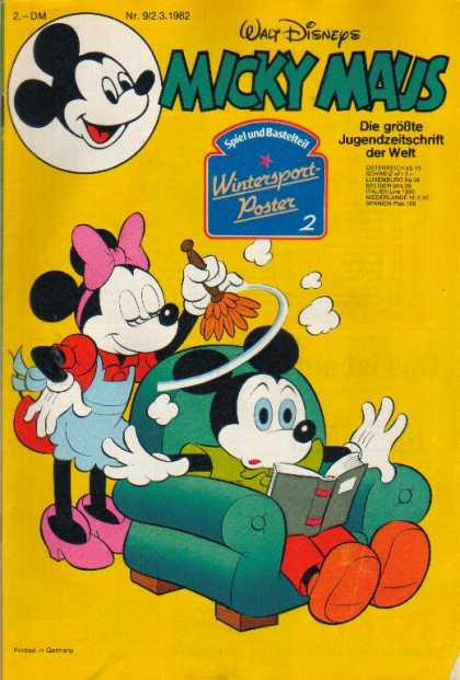 Micky Maus 1340 - Wintersport Poster - Minnie Mouse - Dusting - Book - Chair
