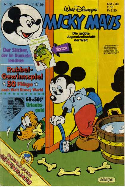 Micky Maus 1468 - Mickey Mouse - Pluto - Wash - Bath - Bubbles