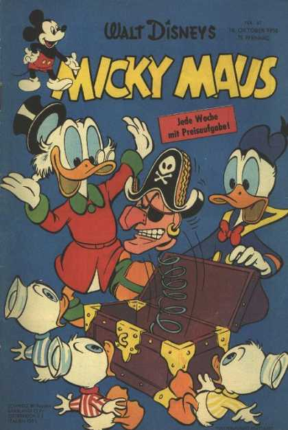 Micky Maus 147 - Duck - Cap - Table - Box - Yellow