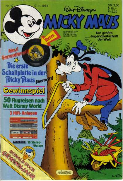 Micky Maus 1482 - Mickey Mouse - Goofy - Goofy Cuts Down A Tree - Nature - Saw
