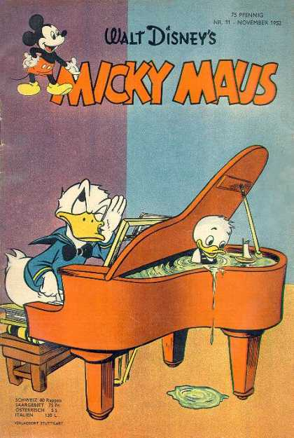 Micky Maus 15 - Handels Water Music - Duck Soup - Piano Damper - Donald Fears He Is Tone Deaf - Nephew Has Water-tight Alibi