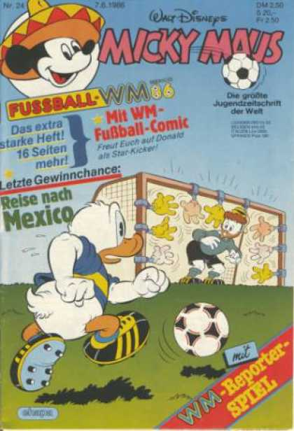 Micky Maus 1510 - Goal - Walt Disney - Donald Duck - Mickey Mouse - Soccer Ball