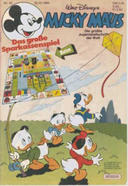 Micky Maus 1524 - Walt Disney - Kite - Donald Duck - Nephews - Wind