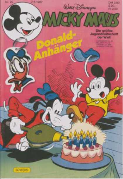 Micky Maus 1541 - Donald Duck - Goofy - Birthday Cake - Candles - Mickey Mouse