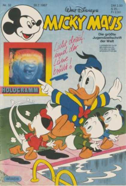 Micky Maus 1545 - Hologramm - Love - Ducks - Pool - Maus