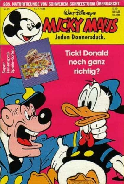 Micky Maus 1575 - Donald Duck - Police - Angry - Jeden Donnersduck - Wringing Neck