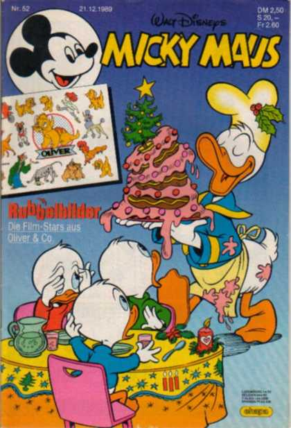 Micky Maus 1636 - Mickey Mouse - German - Cake - Donald Duck - Oliver