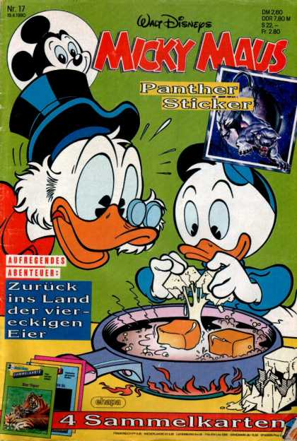 Micky Maus 1653 - Micky Maus - Panther Sticker - Scrooge - Frying Pan - Eggs