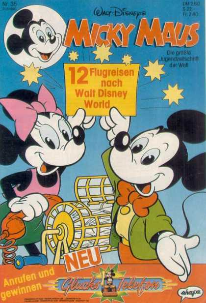 Micky Maus 1666 - Raffle - Mickey - Minnie - Stars - Phone