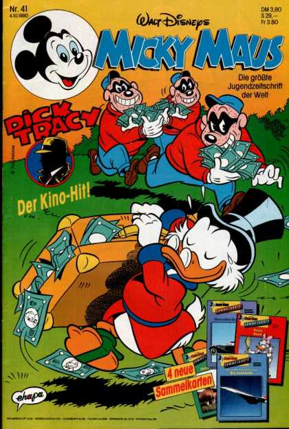 Micky Maus 1671 - Disney - Dick Tracy - Burglers - Scrooge Mcduck - Money