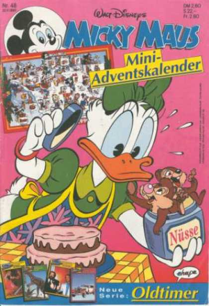 Micky Maus 1675 - Walt Disney - Chipmunks - Duck - Painting - Cake