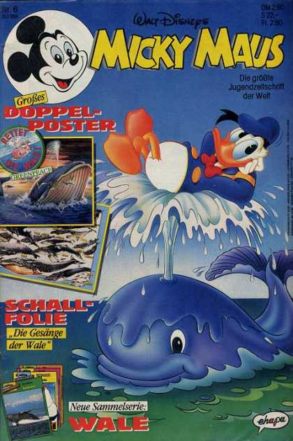 Micky Maus 1685 - Donald Duck - Blue Whale - Doppel-poster - Walt Disney - Blow Hole