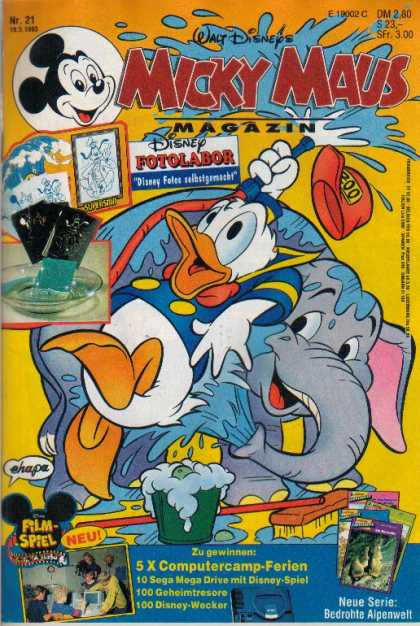 Micky Maus 1807 - Donald Duck - Elephant - Spray Water - Surprised - Computer Camp