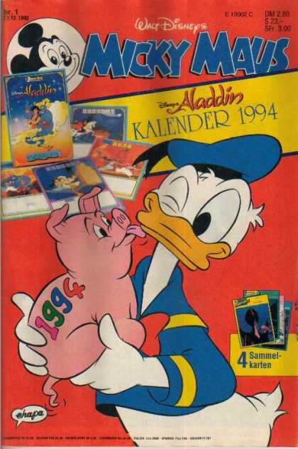 Micky Maus 1839 - Donald Duck - Pig - 1994 - Lick - Wink