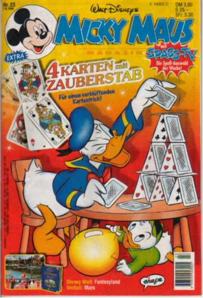 Micky Maus 1914 - House Of Cards - Donald Duck - Balloon - Table - Pin