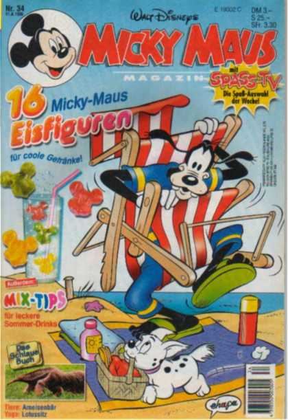 Micky Maus 1927 - Goofy - Beach - Dog - Picnic Basket - Mix-tips