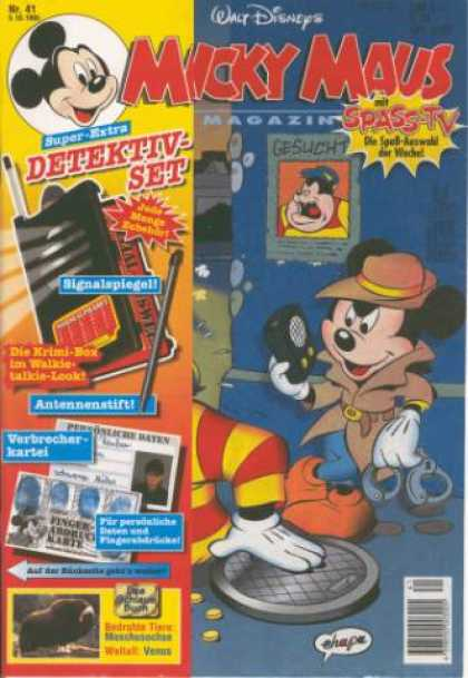 Micky Maus 1935 - Walt Disneys - No 41 - Super Extra Detekti Set - Spass Tv - Walkie Talkie