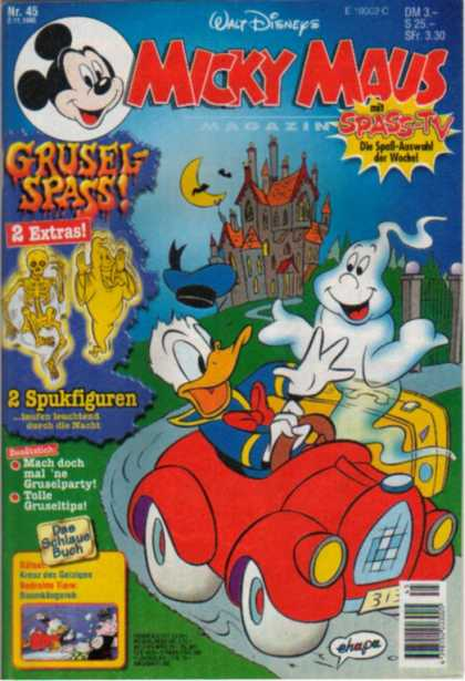 Micky Maus 1939 - Ghost - Castle - Duck - Red Car - Yellow Suitcase