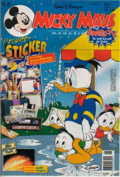 Micky Maus 1940 - Disney - Stickers - Ducks - Circus - Bue