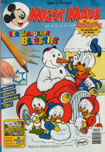 Micky Maus 1950 - Billy - Villy - Dilly - Donald Duck - Snowman