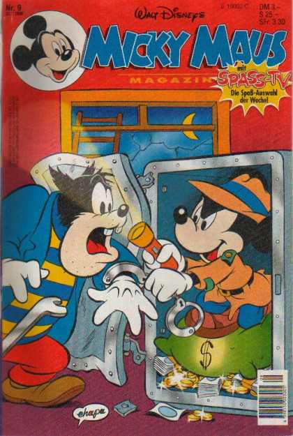 Micky Maus 1955 - Thief - Detective - Safe - Walt Disney - Red Room