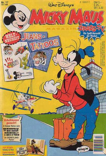 Micky Maus 1963 - Walt Disneys - Jeans-tattoos - Spass-tv - Welt-neuheit - Plane
