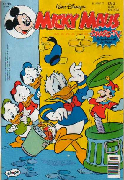 Micky Maus 1965 - Walt Disney - Donald Duck - Trash - Trashcan - Bucket