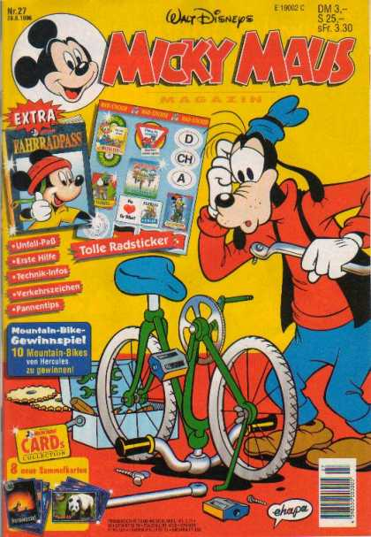 Micky Maus 1973 - Goofy - Dog - Bicycle - Toolbox - Confusion