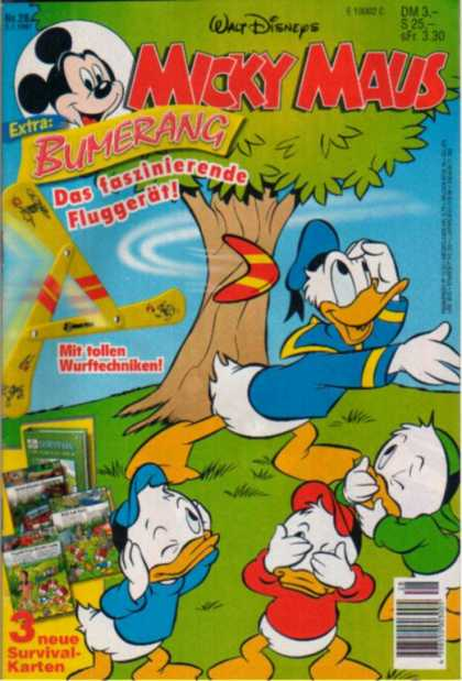 Micky Maus 2026 - Donald Duck - Tree - Boomerang - Grass - Leaves