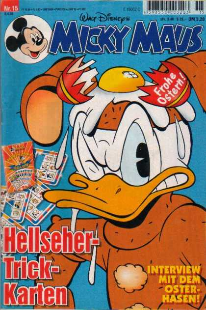 Micky Maus 2066 - Mickey Mouse - German - Egg - Broken - Donald Duck