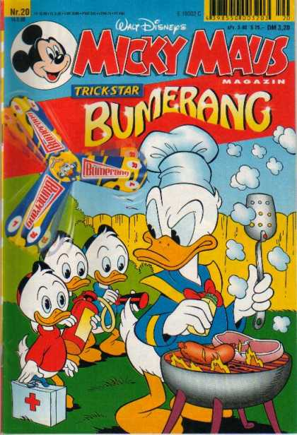 Micky Maus 2071 - Donald Duck - Nephews - Barbecue - Fire Extinguisher - Huey Dewey Louie