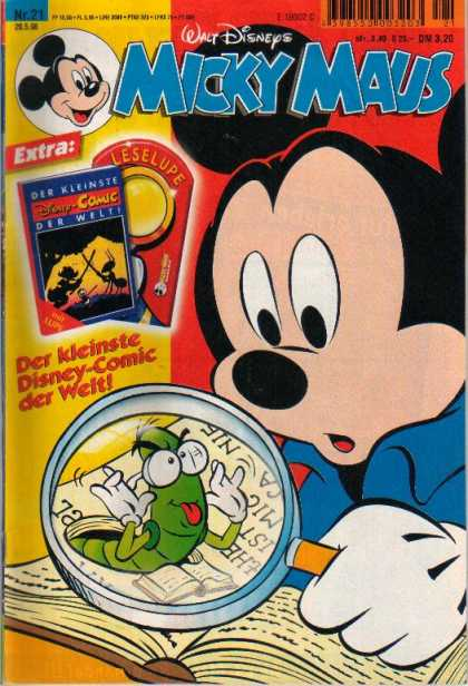 Micky Maus 2072 - Walt Disneys - Extra - Leselupe - Worm - Lense