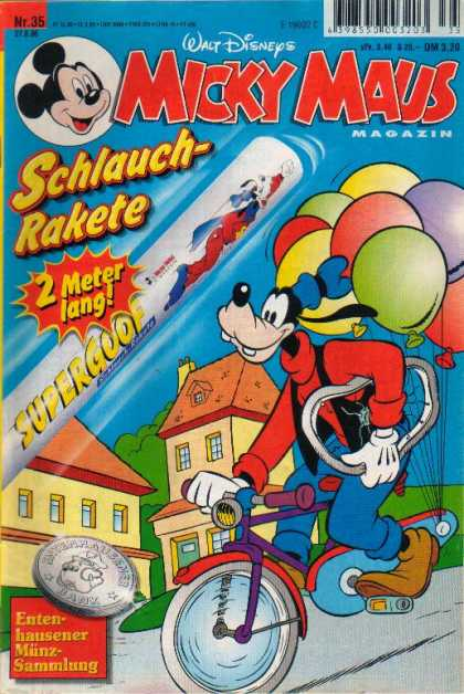 Micky Maus 2086 - Schlauch - Rakete - Bicycle - Supercool - Balloon - Magazin