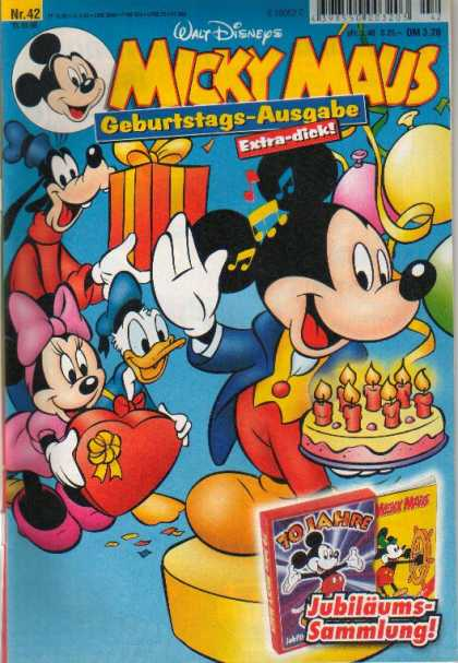 Micky Maus 2093 - Disney - German - Birthday - Mouse - Friendship