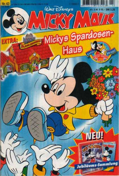 Micky Maus 2094 - House - Flowers - Ice - Above Hands - Red Roof
