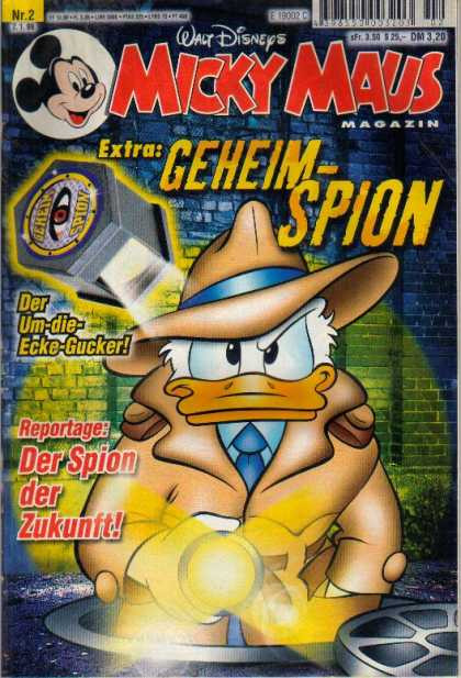 Micky Maus 2105 - Walt Disney - Donald Duck - Private Investigator - Fedora - Flashlight