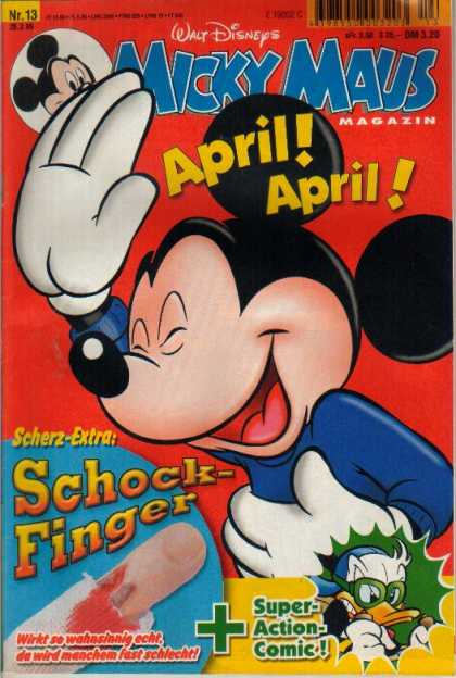 Micky Maus 2116 - Walt Disney - April - Scherz-extra - Schock-finger - Super-action Comics