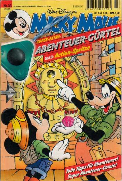 Micky Maus 2136 - Mickey Mouse - Walt Disney - Goofy - Jewels - Ancient Civilizations