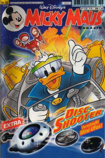 Micky Maus 2139 - Donald Duck - Outer Space - Flying - Disc Shooter - Ufos