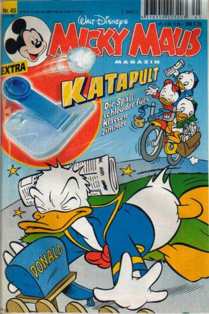 Micky Maus 2148 - Katapult - Donald Duck - Newspaper - Bike - Sling Shot