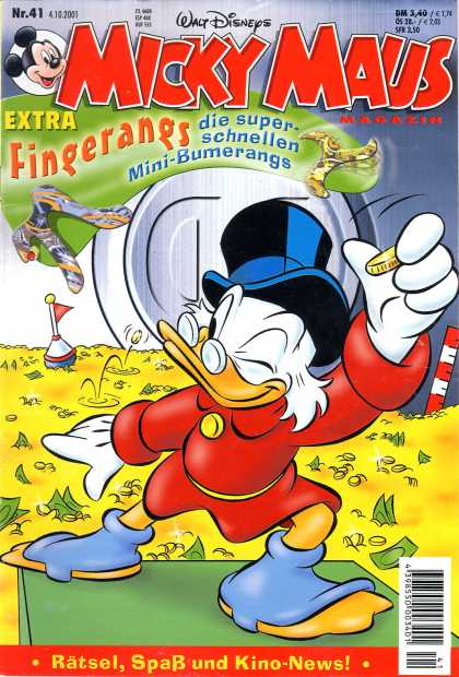 Micky Maus 2249 - German Text - Uncle Scrooge - Money - Gold - Safe