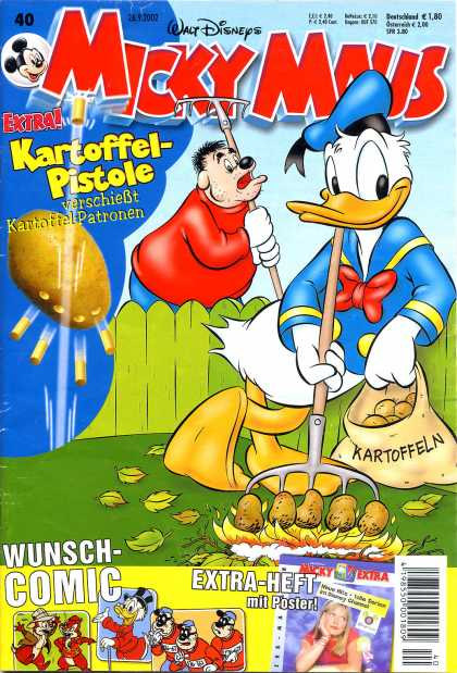 Micky Maus 2300 - Potato Gun - Kartoffel-pistole - Rake - Potato - Donald Duck