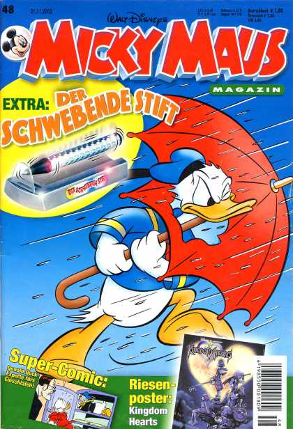 Micky Maus 2308 - Der Schwebende Stift - Walt Disney - Donald Duck - Umbrella - Rain